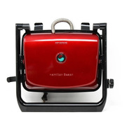 Paninera Parrilla Panini Press Roja Hamilton Beach 25462z
