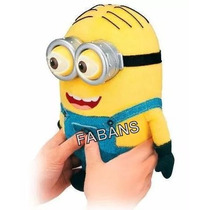 Peluche Minions 23cm Ojos 3d + Cancion Banana Juguete