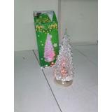 Arbolito Navidad Adorno 15cm Luces Led