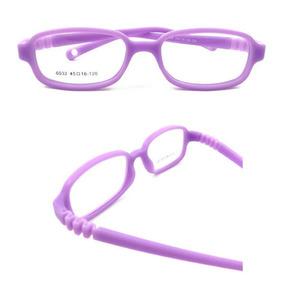 1ca14513c1b25 Armação De Óculos Infantil Flexível Lilás Oculos - Óculos no Mercado ...