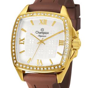 Relógio Champion Dourado Feminino Elegance Cn27367h Quadrado