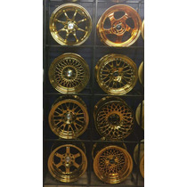 Jnc Wheels 15x8 4/100 Golden Chrome Muy Exclusivos