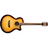 Guitarra Electroacustica Washburn Ea15atb Afinador Eq Pream