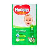 Pañales Huggies Active Sec M 5,5-9,5kg X52u