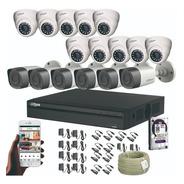 Kit Cctv 16 Cámaras De Seguridad Dahua 1080p + Dvr 16 Ch +dd