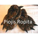 Pantuflas Garras Animal Print Niños Nena Peluche Y+ Ropa Gap