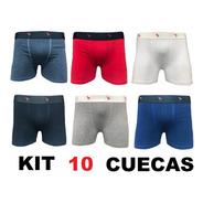 Kit 10 Cuecas Boxe De Agodão