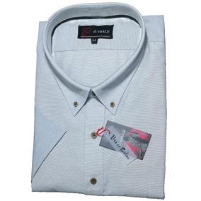 Camisa Manga Corta Especial Talle 54 Buena Confección Gris V