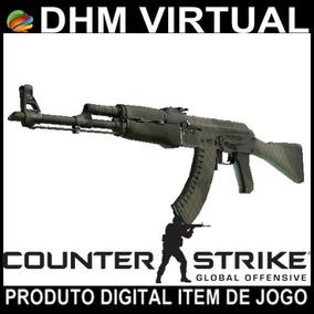 Skin Cs-go Ak-47 | Grade De Safári (testada Em Campo)