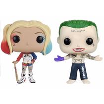 Harley Quinn + Coringa Joker Esquadrão Suicida Funko Pop