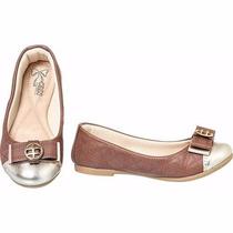 Sapato Sapatilha Infantil Feminina Klin Princesa Marrom