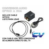 Convertidor Optico-coaxial A Rca Smart Tv Contraentrega