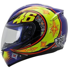 Capacete Agv K3 Motogp Valentino Rossi Azul Rs1