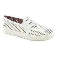 Tênis Casual Slip On Sneaker Em Couro Vazado Carrano 111832