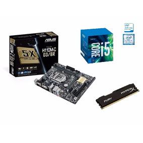 Kit Processador I5 7400 + Placa Asus H110m-c D3/br +8gb Ddr3