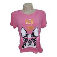 Camiseta Dog T-shirt Cachorrinho Feminina Estilosa