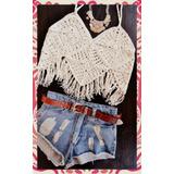 Top Remera Remerita Musculosa Crochet Tejida Boho Hippie