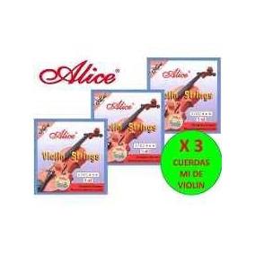 Cuerdas 3 (mi) Para Violin Marca Alice
