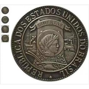 Moeda Brasil 1.000 Réis 1900 Réplica Linda Peça Melhor Preço