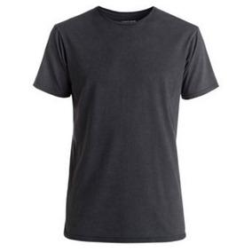 Franelas Negras Para Caballero Unicolor 100%algodón Estampar