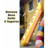 Banana Boat 5 Lugares Marca Zefir, Boia, Bote, Praia Inflave