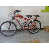 Bicicleta Doble Con Motor Bicimoto 80cc