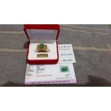 Anillo Oro 18k Pesado Esmeralda Autentica Certificados