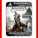 Assassins Creed 3 Ps3 :: Digital :: Original Español