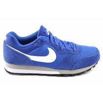 Zapatillas Nike Md Runner Cuero Gamuza Azul Hombre Talla 43