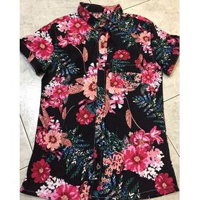 Camisas Slimfit De Flores, Tallas S A La L