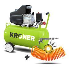 Compresor De Aire Kroner 2,5 Hp 50 Litros Gtía 6 Meses + Kit