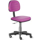 Cadeira Secretária Costura Giratória Courvin Lilás