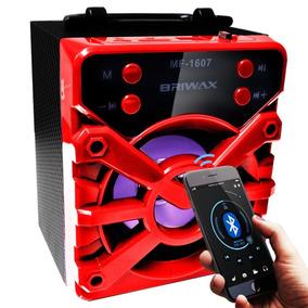 5 Caixa Som Bluetooth Amplificada Usb Mp3 Radio Fm Promoçao!