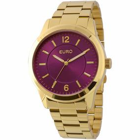 Relógio Euro Feminino Dourado Eu2036lzd/4g - ( Nfe )