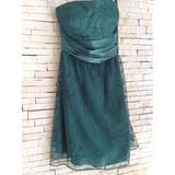 Vestido Verde Escuro De Festa Mendry