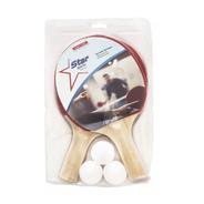 Set Ping Pong 2 Paletas + 3 Pelotas Tenis Mesa Star Sport