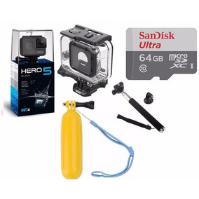 Gopro Hero 5 Black Camera Gopro 5 + Cx Estanque+64gb+2bastao