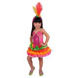 Disfraces Carnavalito Rumbera Tropical Talla 10 Niña Nuevo!