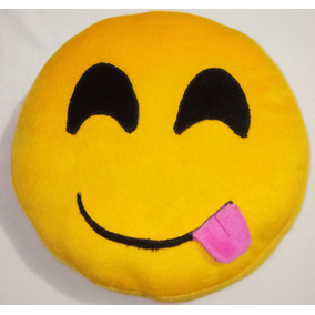 Almohada Emoji Emoticones Whatsapp Peluche 28 Cm De Diametro