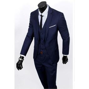 Terno Masculino Oxford Completo Paletó E Calça Slim Fit