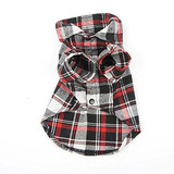 Smart Pet Disfraces Perro Puppy Plaid T-shirt Blusa Abrigos