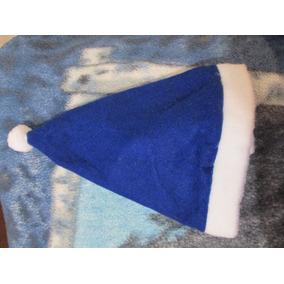 Gorro Navidad Con Cascabel Unitalla En Color Azul 18 Msi