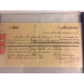 Rara Promissória 1918 C/ Selo 300 Reis De Coleção