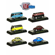 M2 Machines 1:64 Auto-thentics S-3 Volkswagen Beetle And Bus