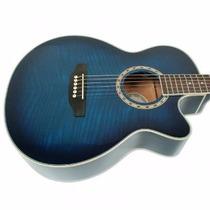 Guitarra Electroacústica Media Caja Parquer Gac209 + Fund
