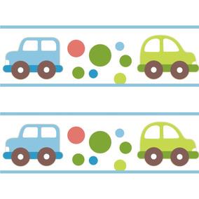 Faixa Adesivo Infantil Border Transporte Carro Carrinho 14