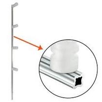 Kit 50 Haste Para Cerca Elétrica Residencial Aluminiun