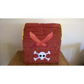 Piñata Cofre Del Tesoro. Jake Y Los Piratas Peter Pan