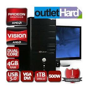 Computadora Nueva 3.9ghz 4gb 1tb Dvd 1año Gtia Outlethard