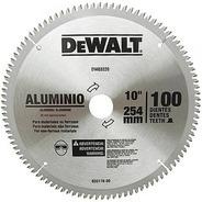 Disco De Serra 250mm 100 Dentes Wídea Corta Aluminio Dewalt